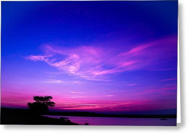 Cape Cod Mass Greeting Cards - Padanaram Ma. Twilight Greeting Card by Troy DeTerra
