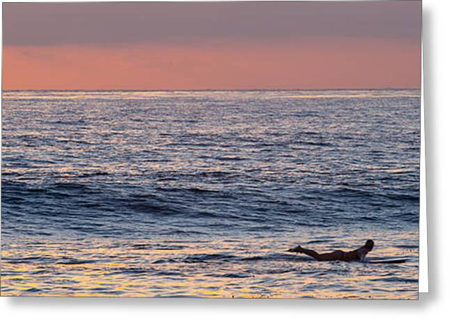 Surf Shack Greeting Cards - Paddle out Greeting Card by Peter Tellone
