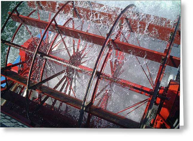 Paddle Wheel No. 7-1 Greeting Card by Sandy Taylor