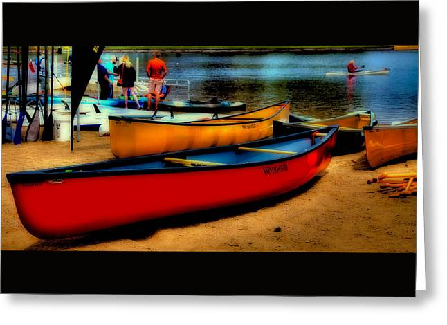 Old Forge Greeting Cards - Paddlefest in Old Forge Greeting Card by David Patterson