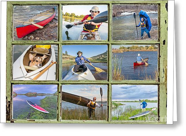Canoe Photographs Greeting Cards - Paddling Vacation Concept Greeting Card by Marek Uliasz