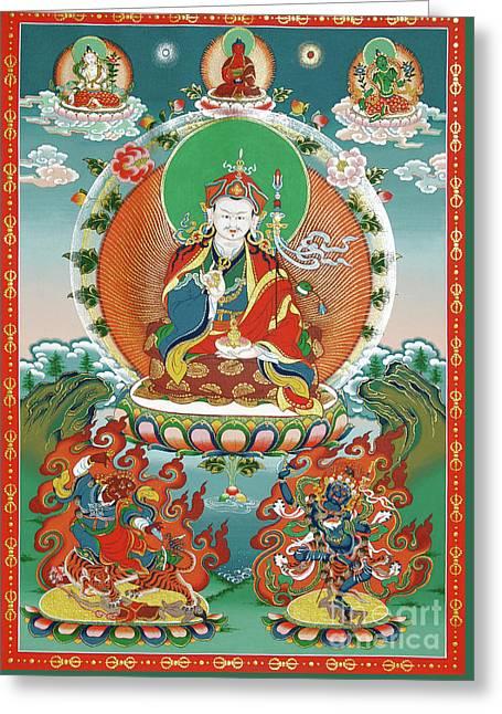 Indian Guru Greeting Cards - Padmasambhava Greeting Card by Sergey Noskov