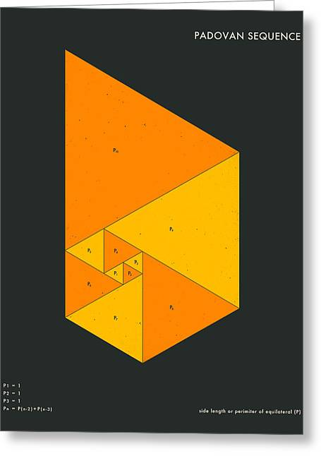 Geometric Art Greeting Cards - Padovan Sequence Greeting Card by Jazzberry Blue