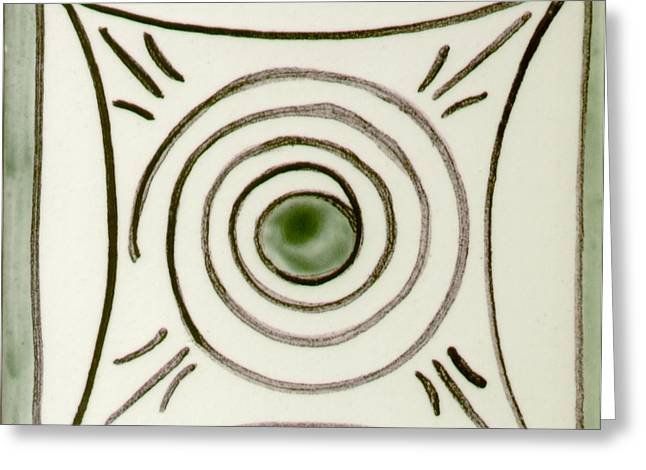 Ceramics Greeting Cards - Padrao0 Greeting Card by Maria do carmo Cid peixeiro