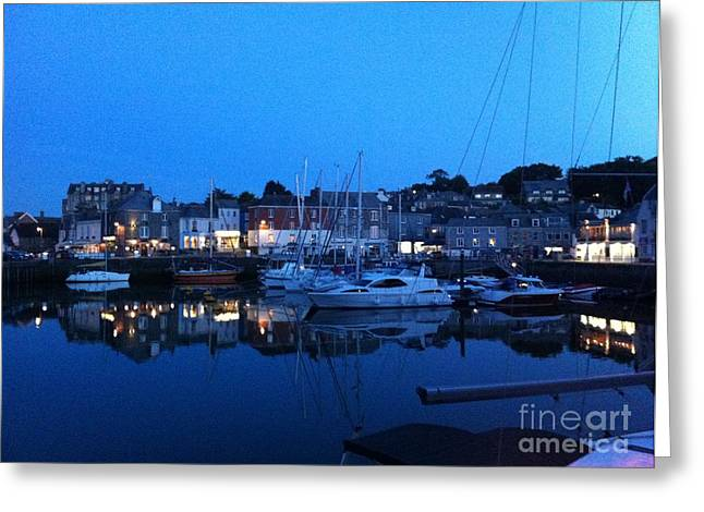 Lobster Post Greeting Cards - Padstow Harbour in Cornwall Greeting Card by Sonny Chana