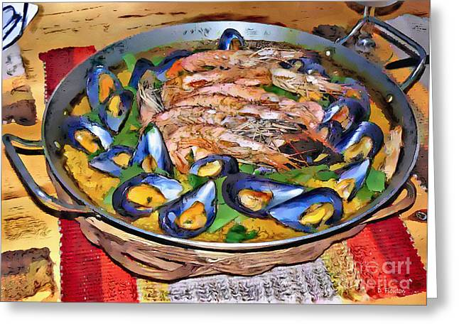 Paella Greeting Cards - Paella Greeting Card by Dee Flouton