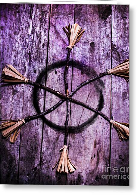Pagan Or Witchcraft Symbol For A Gathering Greeting Card by Jorgo Photography - Wall Art Gallery
