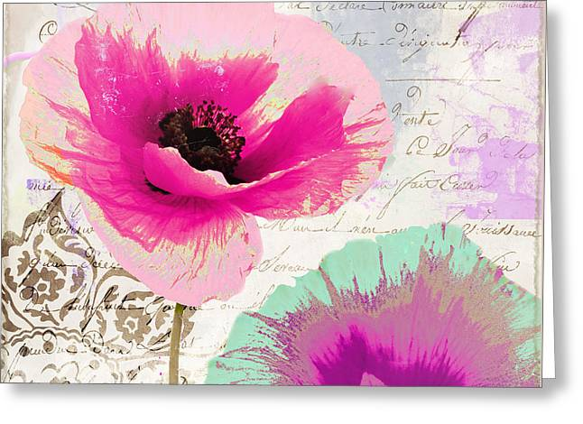Paint And Poppies II Greeting Card by Mindy Sommers