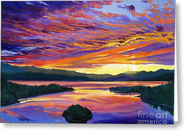 National Paintings Greeting Cards - Paint Brush Sky Greeting Card by David Lloyd Glover