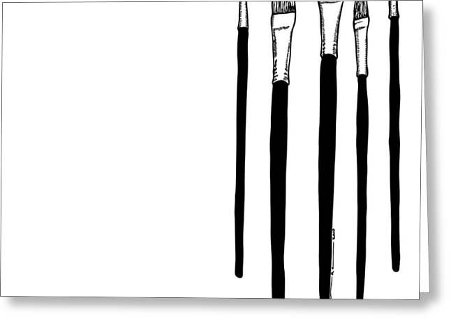 Paint Brushes Greeting Card by Karl Addison