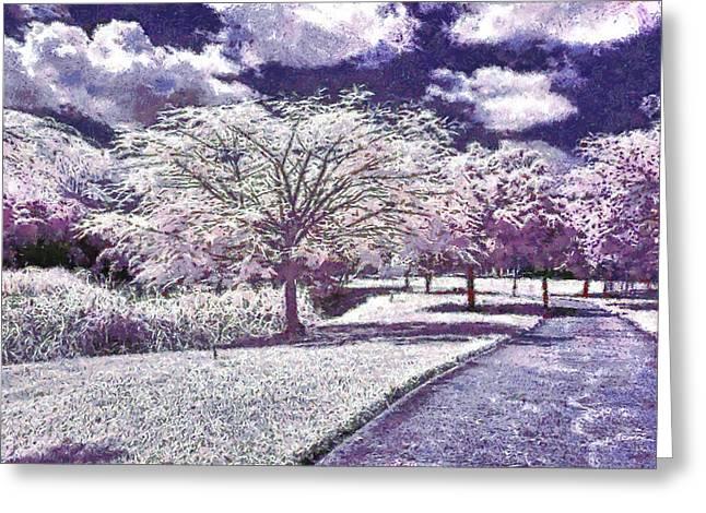 Himmel Digital Greeting Cards - Paint garden Greeting Card by Riccardo Zullian