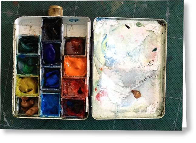 Paintbox Greeting Cards - Paint It Greeting Card by Ellen Di Piazza