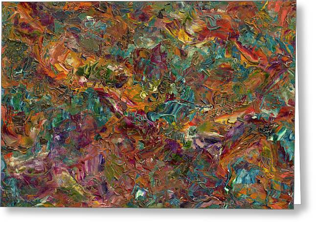Abstract Field Greeting Cards - Paint number 16 Greeting Card by James W Johnson