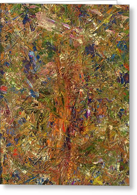 Palette Knife Greeting Cards - Paint Number 25 Greeting Card by James W Johnson