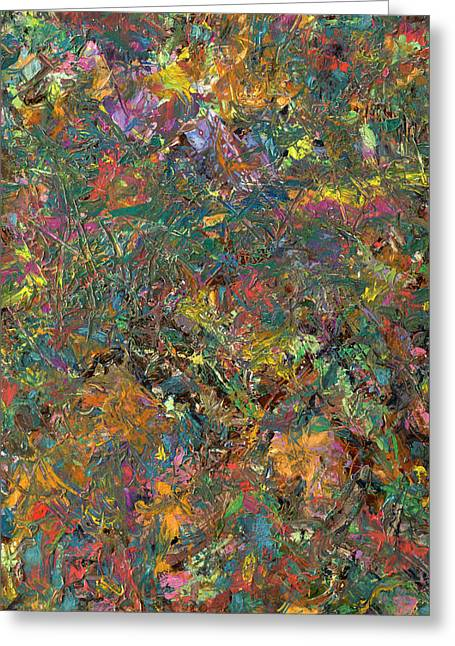 Palette Knife Greeting Cards - Paint number 29 Greeting Card by James W Johnson