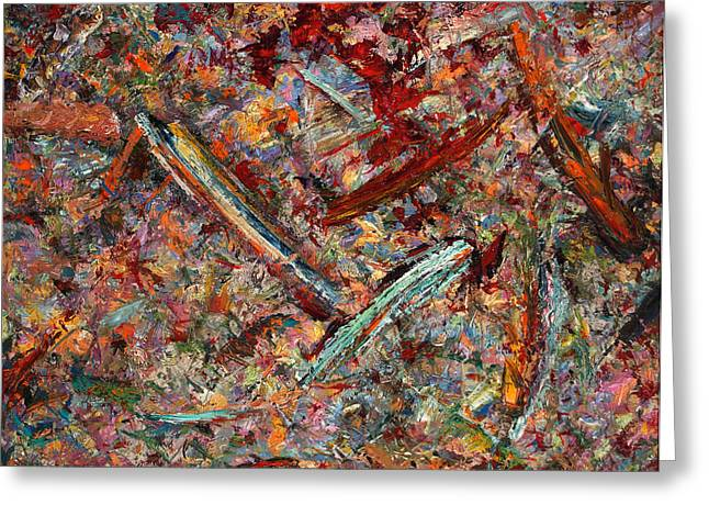 Abstract Expressionism Greeting Cards - Paint number 30 Greeting Card by James W Johnson