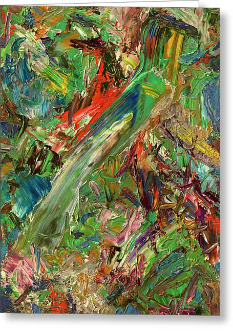 Expressionism Greeting Cards - Paint number 32 Greeting Card by James W Johnson