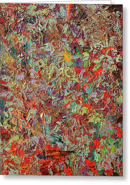 Abstract Field Greeting Cards - Paint number 33 Greeting Card by James W Johnson