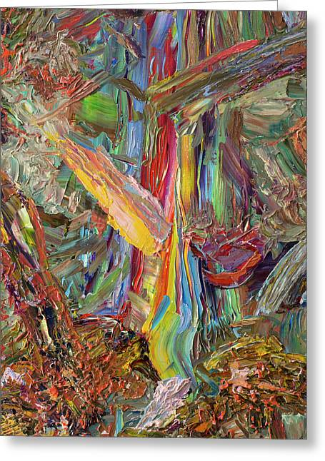 Palette Knife Greeting Cards - Paint number 40 Greeting Card by James W Johnson