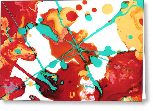 Abstract Forms Greeting Cards - Paint Party 1 Greeting Card by Amy Vangsgard