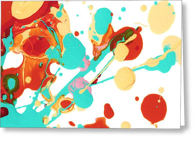 Loose Greeting Cards - Paint Party 3 Greeting Card by Amy Vangsgard