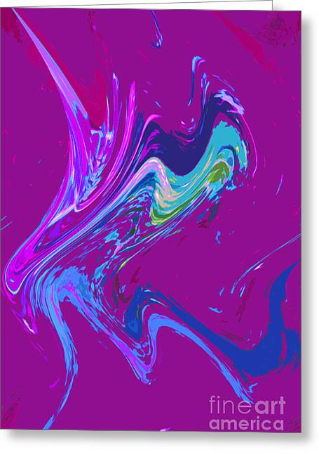 Puddle Paint Greeting Cards - Paint puddle Greeting Card by Chris  Taggart