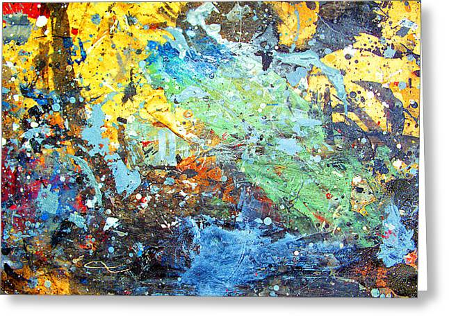So Cal Greeting Cards - Paint Shop Abstract Greeting Card by Ron Regalado