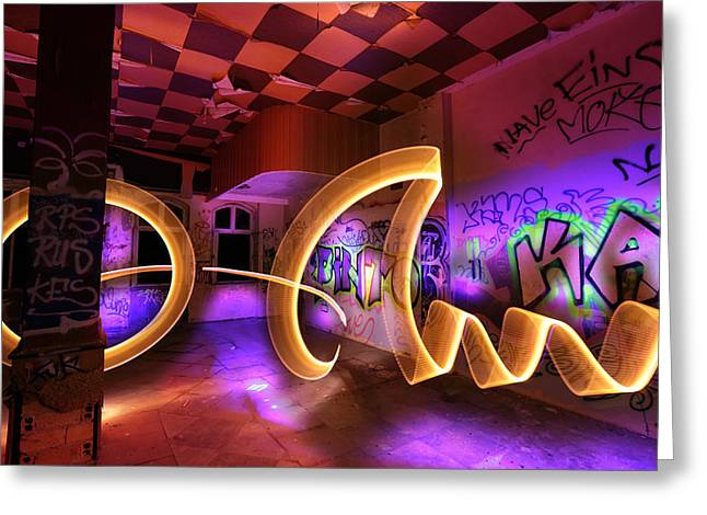 Grafity Greeting Cards - Paint the room with Light Greeting Card by Gunnar Heilmann