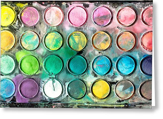Paint Tray Greeting Card by Tom Gowanlock