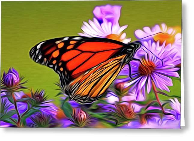 Award Digital Art Greeting Cards - Painted Butterfly Greeting Card by David Kehrli