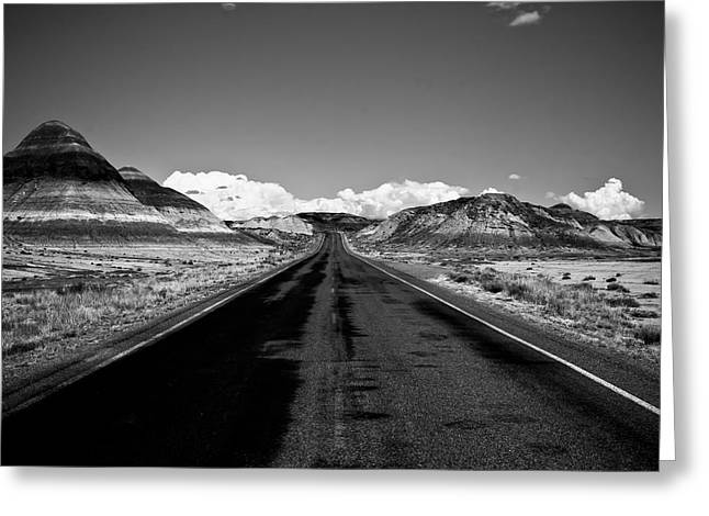 Painted Desert Road #2 Greeting Card by Robert J Caputo
