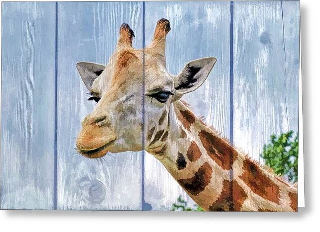 Hospital Theme Greeting Cards - Painted Giraffe for kids room Greeting Card by Geraldine Scull