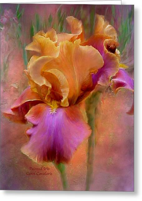 Art Of Carol Cavalaris Greeting Cards - Painted Goddess - Iris Greeting Card by Carol Cavalaris