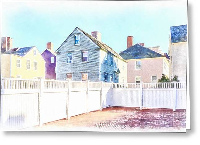 Painted Houses Portsmouth Greeting Card by Edward Fielding