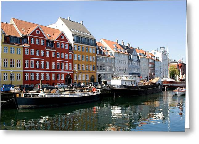 Copenhagen Denmark Greeting Cards - Painted Houses Greeting Card by Shawn Everhart