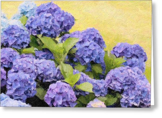 Cod Digital Greeting Cards - Painted Hydrangeas Greeting Card by Gina Cormier