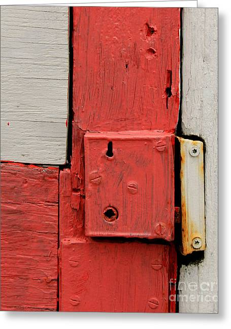 Painted Details Greeting Cards - Painted Lock Greeting Card by Perry Webster