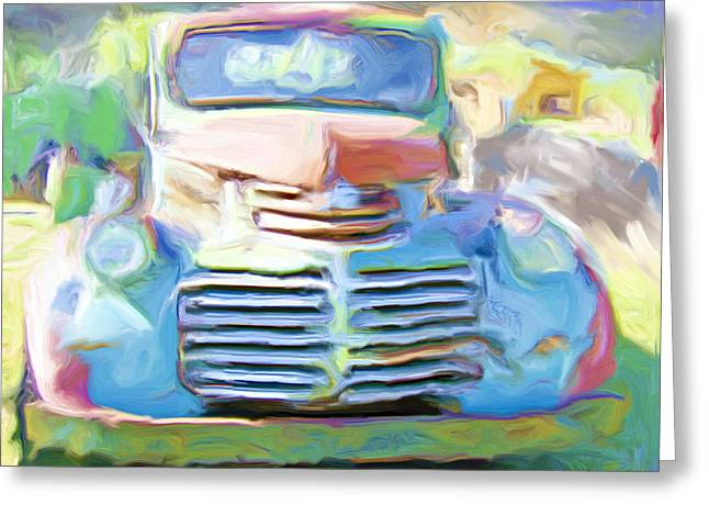 Painted Greeting Card by Lou  Novick