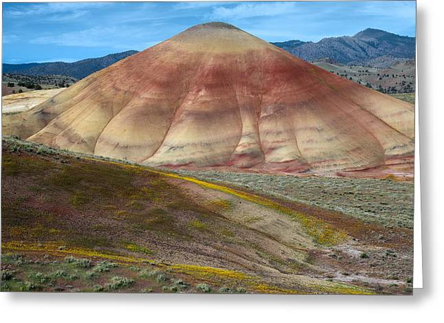 Painted Mountain Greeting Card by Leland D Howard