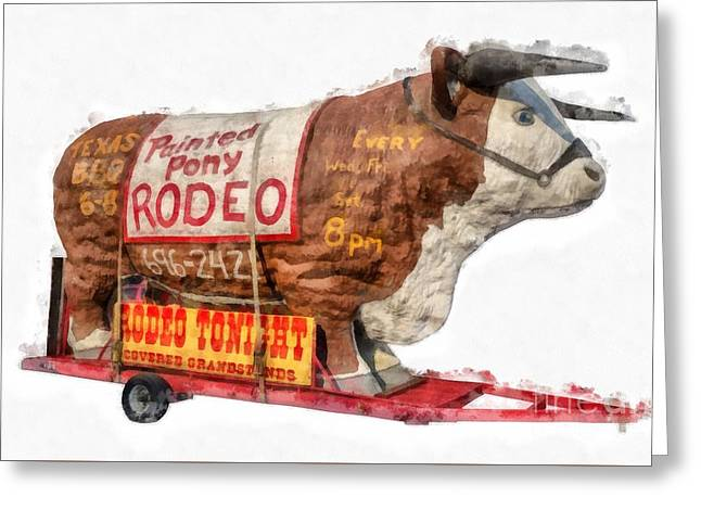 Painted Pony Rodeo Lake George Greeting Card by Edward Fielding