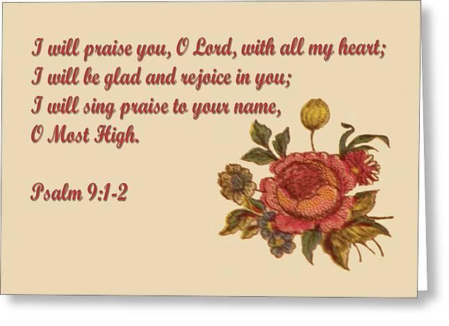 Spiritua Greeting Cards - Painted Red Rose Greeting Card by Linda Phelps