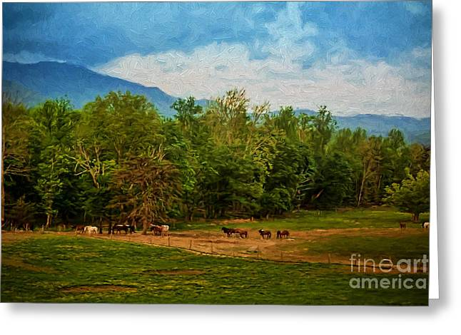 Paint Photograph Greeting Cards - Painted Valley Greeting Card by Dave Bosse