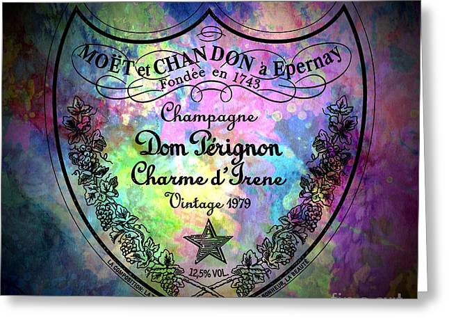 Dom Perignon Greeting Cards - Painted Perignon Greeting Card by Jon Neidert