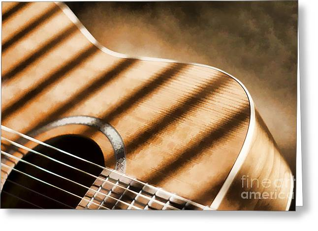 Painterly Acoustic 1 Greeting Card by Gordon Wood