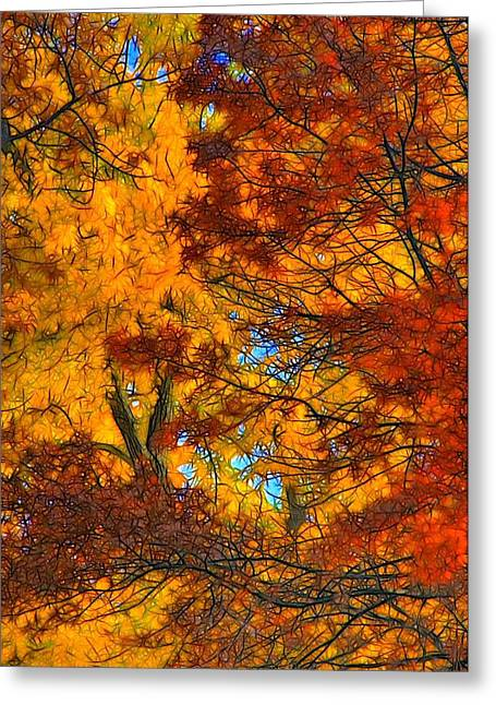 Lyle Hatch Greeting Cards - Painterly Greeting Card by Lyle Hatch