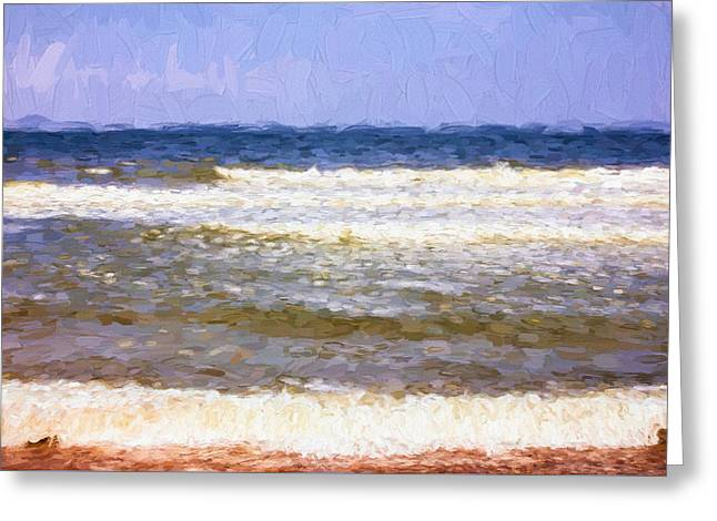 Painterly Seascape Greeting Card by Pati Photography