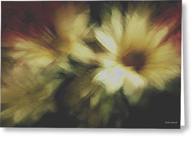 Daiseys Greeting Cards - Painting Flowers Greeting Card by Linda Sannuti
