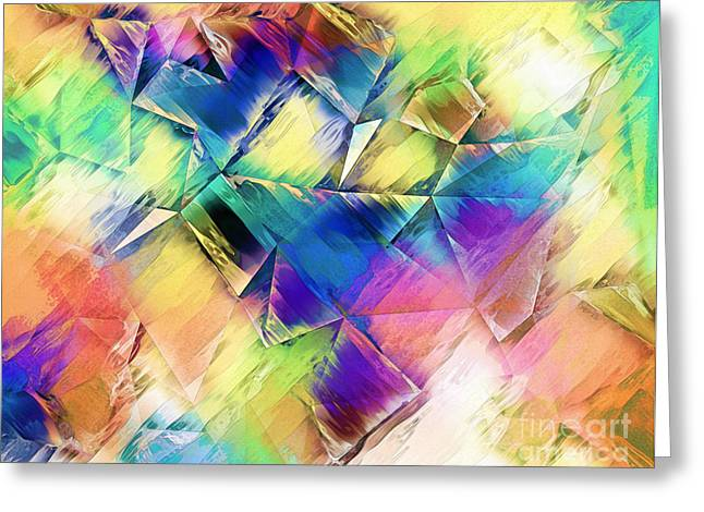 Geometric Art Greeting Cards - Painting Light To Shapes Greeting Card by Phil Perkins
