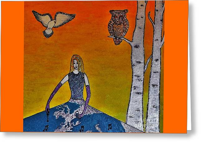 Painting On A Sunny Day Greeting Card by Jasna Gopic