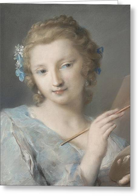 Painting Greeting Card by Rosalba Carriera